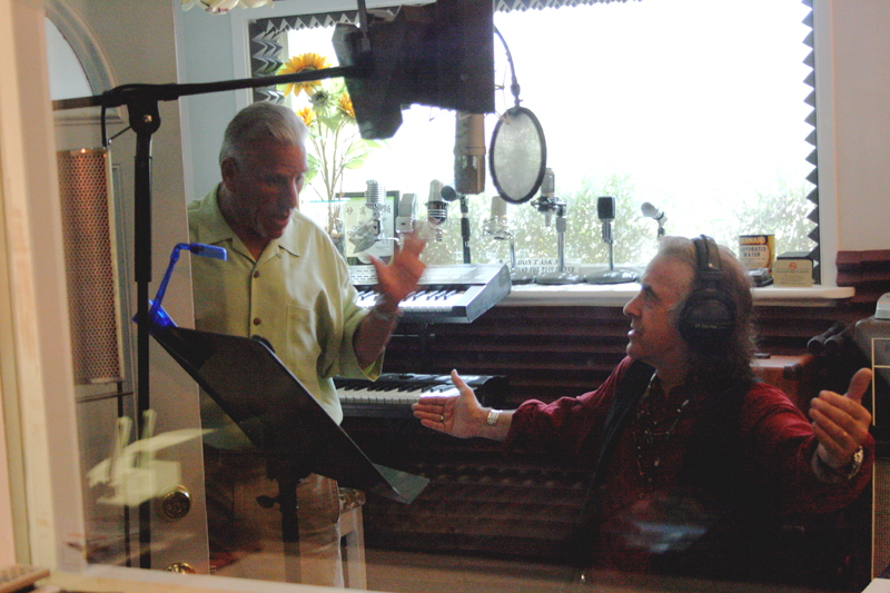 Michael with Pete Sears in the studio